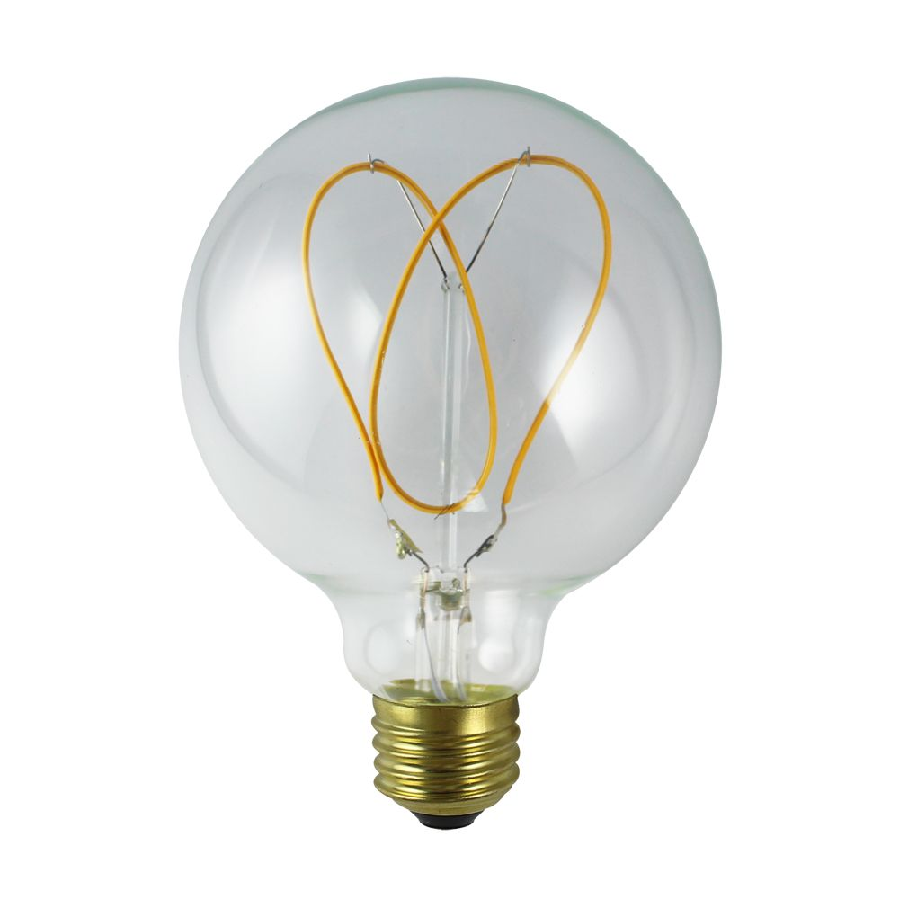 4w Bulb Filament Flexible G125 With Dimmable Led Soft Shape G40 Hear Yg76vbyf