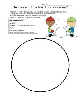 Do You Want To Build A Snowman Circumference And Area Of A Circle