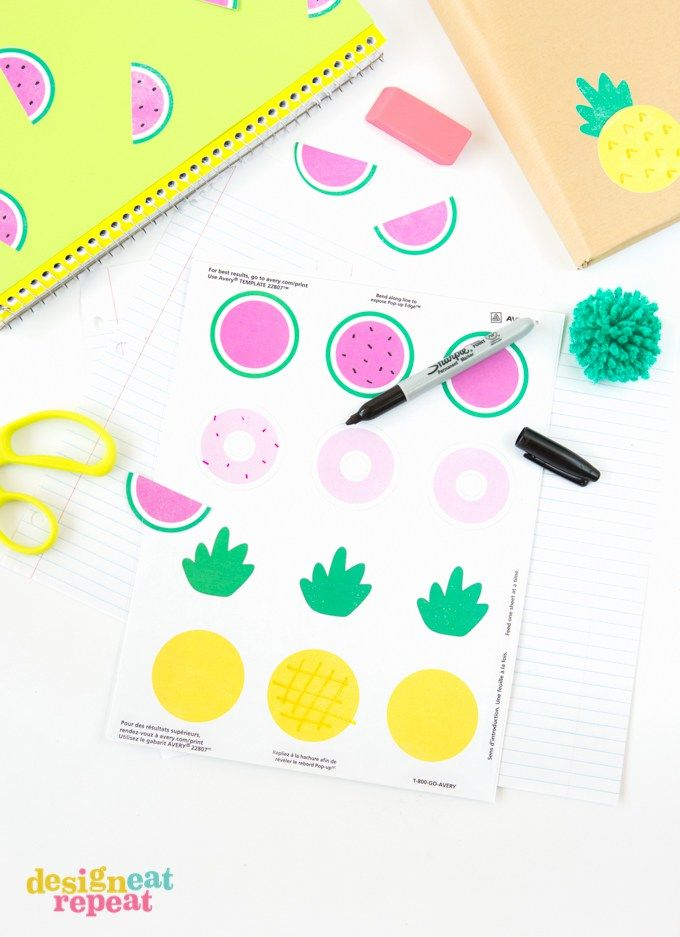 decorate school notebooks  binders  folders and book covers with these free yummy printables