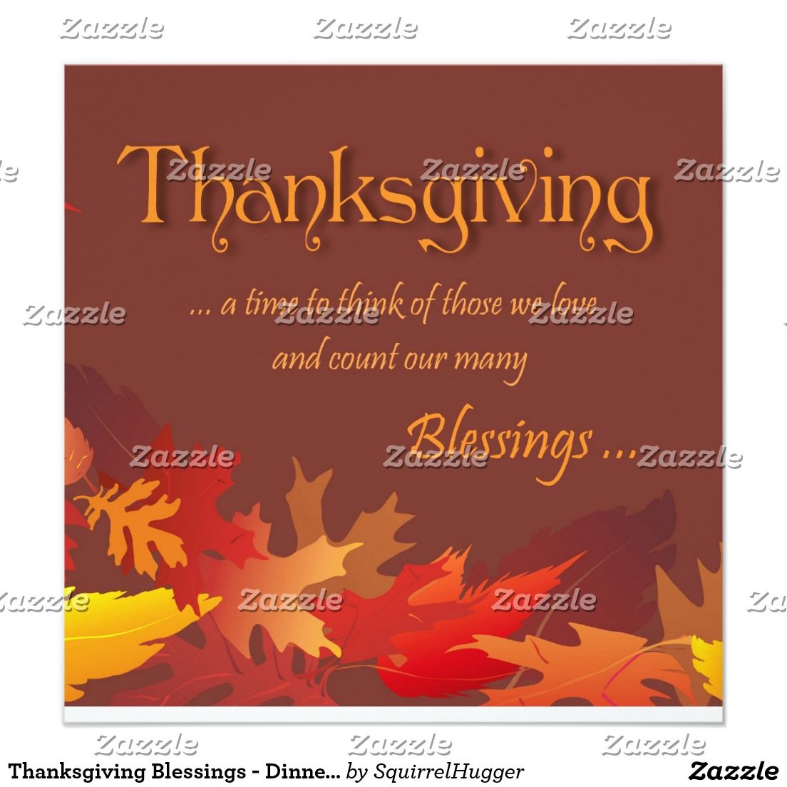 Thanksgiving Blessings - Dinner Party Invitation | Dinner party ...