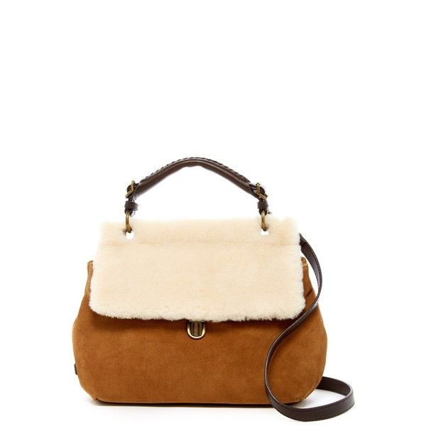 Ugg Australia Heritage Suede Genuine Lamb Fur Satchel 145 Liked On Polyvore Featuring Bags Handbags Che Woven Purses B