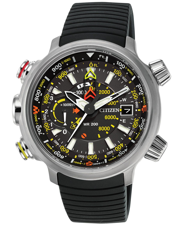 Citizen Men s Chronograph Eco-Drive Promaster Altichron Black Rubber Strap  Watch 50mm BN5030-06E  caf662c7797