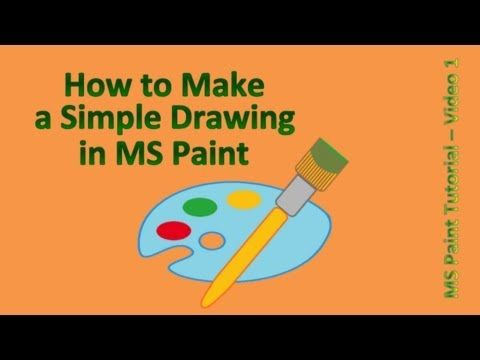 Paint Tutorial How To Make A Simple Drawing In Ms Paint Easy Drawings Computer Drawing Drawings