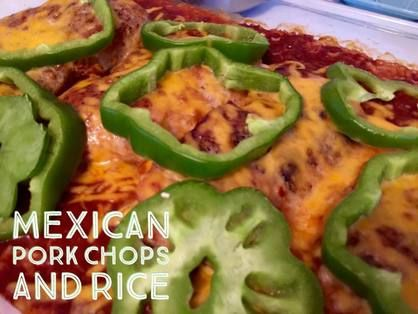 Recipe:  Mexican Pork Chops and Rice  http://www.twohensandtheirchicks.com/recipe-mexican-pork-chops-and-rice.html