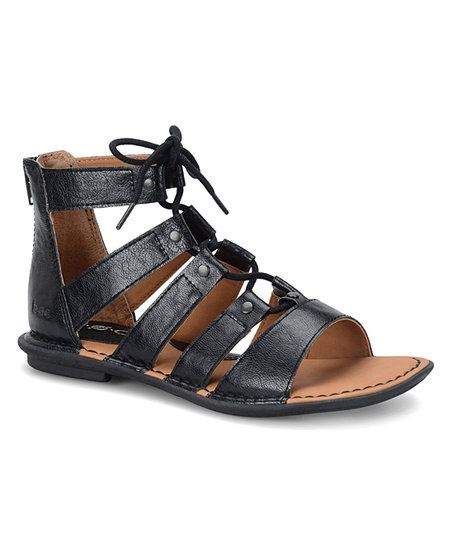 7e18905221c Embrace your inner goddess in these on-trend gladiator sandals crafted with  a comfy cushioned insole and back zipper for easy on and off.