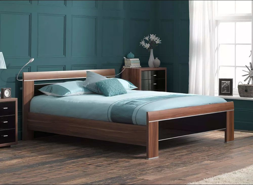 Berkeley Black Wooden Bed Frame Bed Frame Black Wooden Bed Wooden Bed