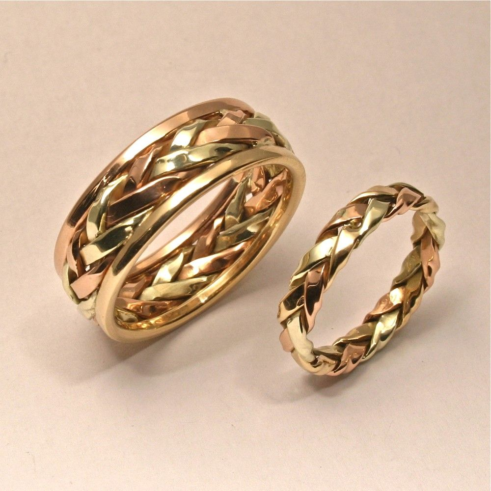 Braided in Gold, Men's Large Wedding Band. 895.00, via