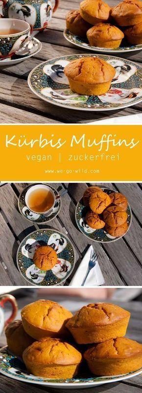 Saftige Kürbis Muffins: Vegan und ohne Zucker