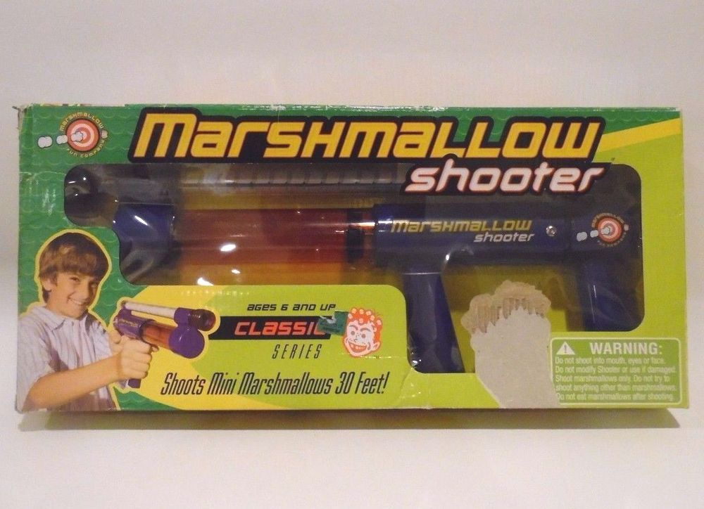 Marshmallow Mini Classic Gun Shooter Toy Guns Shoot Blaster Marshmellow  Blow #MarshmallowFunCompany