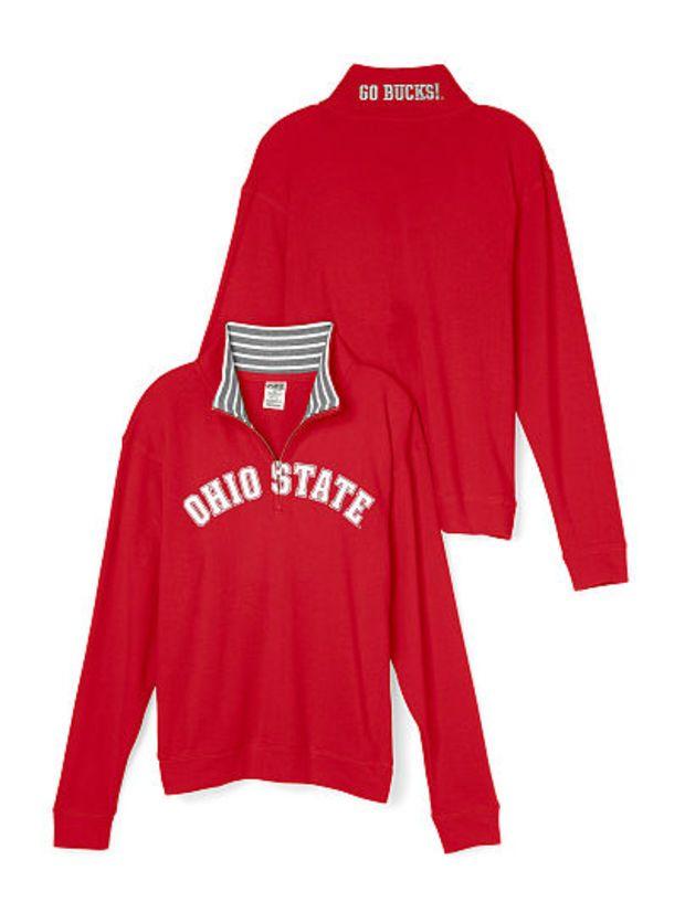 83988c4263258 Ohio State University Boyfriend Half-Zip - PINK - Victoria's Secret ...