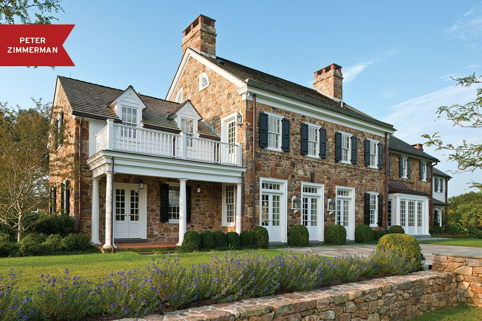 12 stately homes with stone exteriors around the country - Stone Farmhouse Exteriors