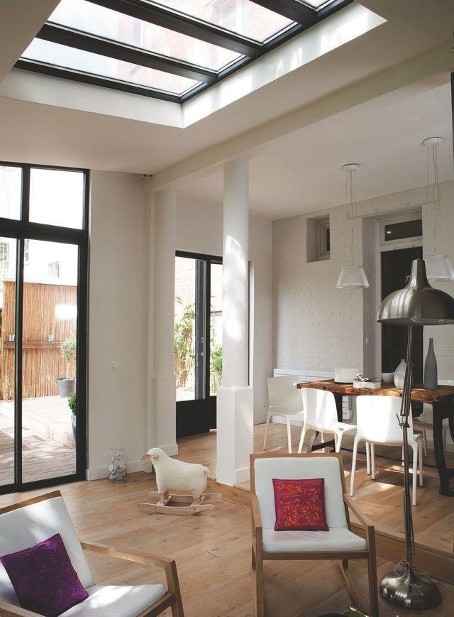 rez de chauss e pour plus de lumi re misez sur le verre porte fenetre coulissante fen tres. Black Bedroom Furniture Sets. Home Design Ideas