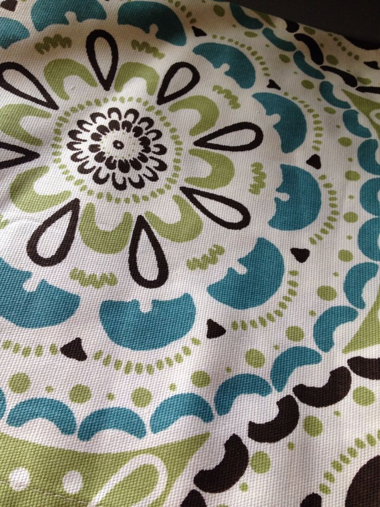 Target Threshold Green Medallion Fabric Shower Curtain Aqua Brown