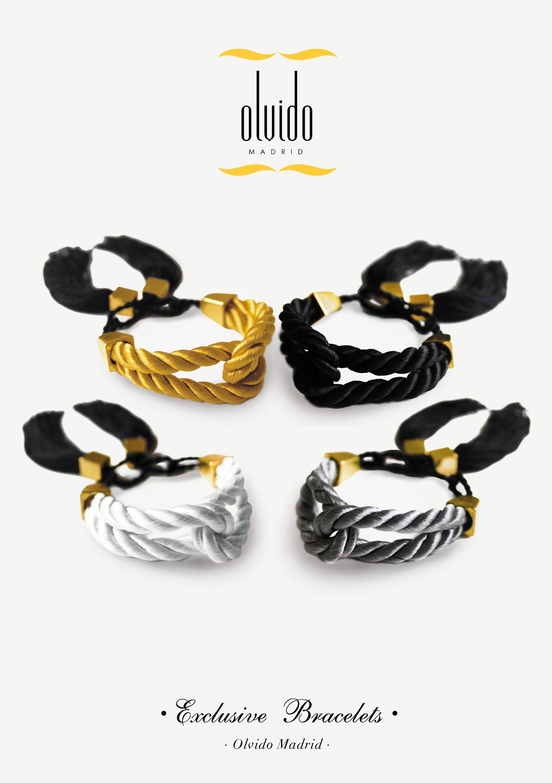 ● PULSERAS TRINIDAD // Dorado, negro, plata y blanco // Hechas en cordón de seda ~ www.olvidomadrid.com