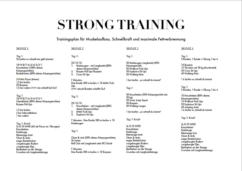 Fatburner Trainingsplan F 252 R Frauen 6 Monate Free Download Fitness Pinterest