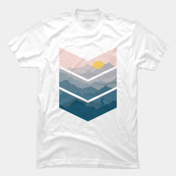 Hiking T Shirt By Hkartist Design By Humans | Design Of The Day ...