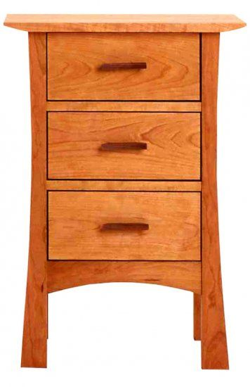 Contemporary Craftsman 3 Drawer Night Stand