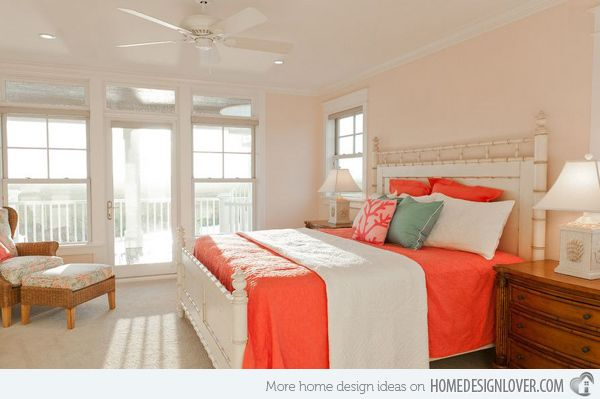 Charming Peach Might Be Pretty For Master Bedroom, Not Sure About The Tangerine  Bedding .