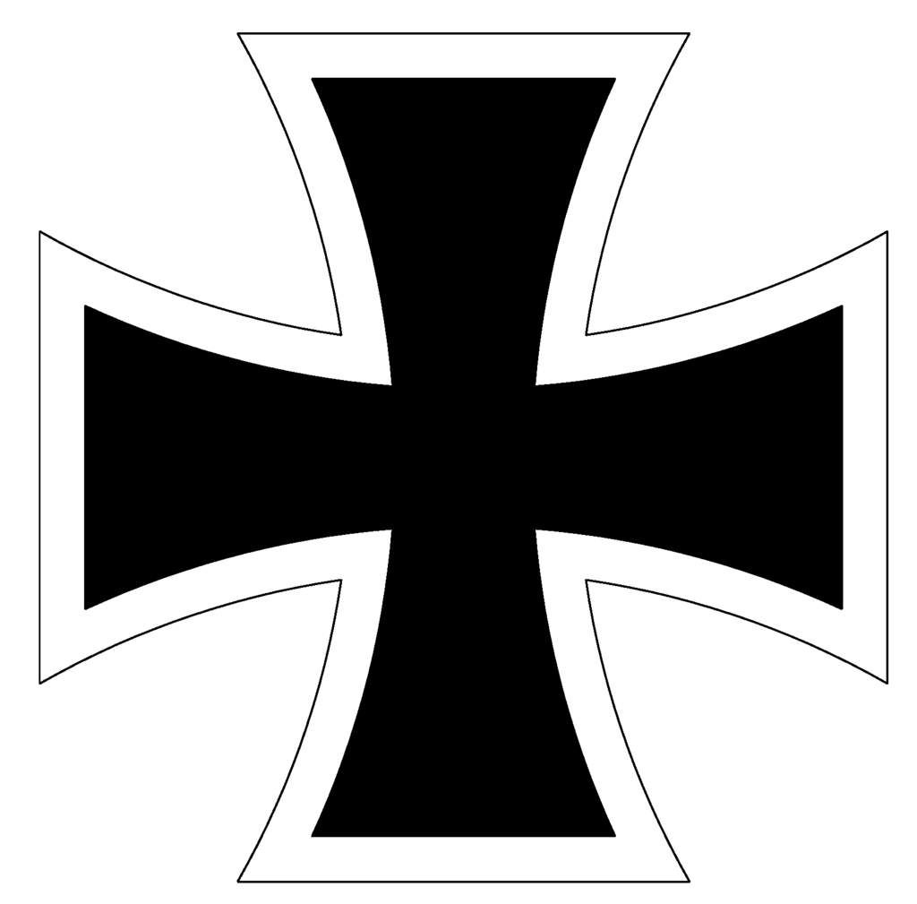 It is a graphic of Decisive Iron Cross Drawing