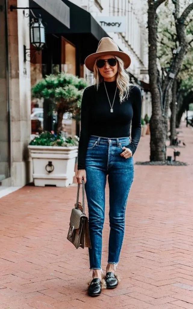 25 idées de tenues d'hiver simples avec un jean 7