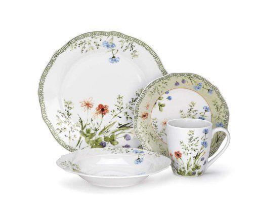 Cuisinart Fleurie Collection 16-Piece Porcelain Dinnerware Set