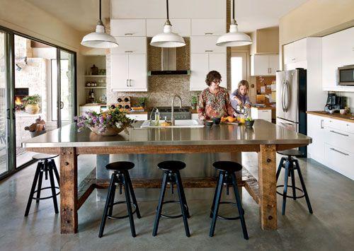 dalfred bar stool, rustic legs, metal counter