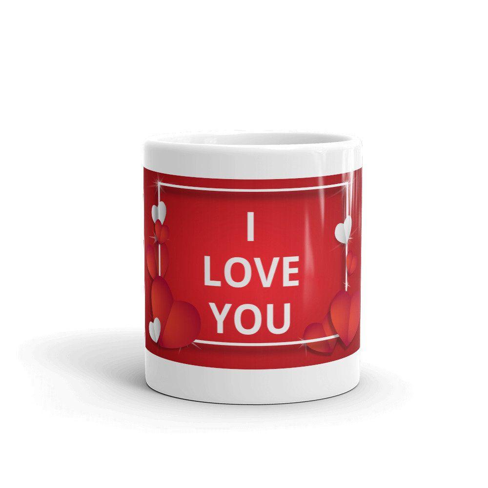 Hearts Coffee Mug I Love You Valentine S Day Mother S Day Romantic Relationship Gift Coffee Heart Mugs Coffee Mugs