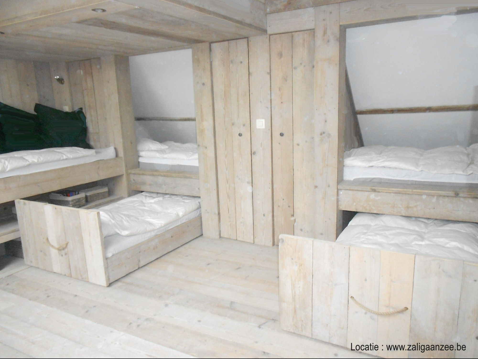 Attic Bunk Room With Pull Out Beds