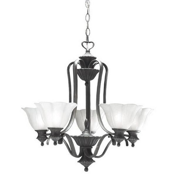 Kichler lighting s1716 tgp five light chandelier in antique pewter with tuscan gold accents