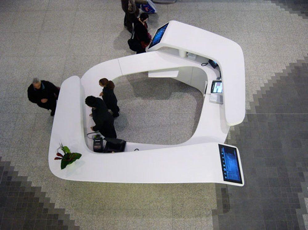 Westfield Mall Information Reception Desk Overhead Shot