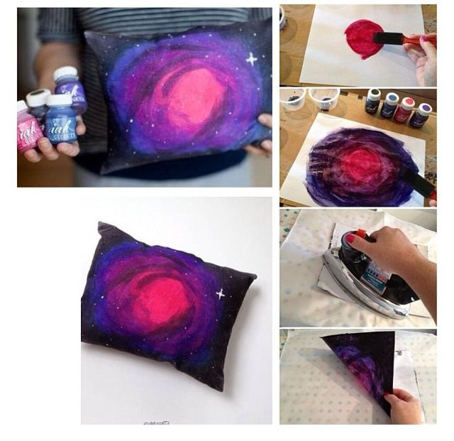 Diy Galaxy Pillow Case: Diy Galaxy Pillow Case & Suede Pillow Cover,