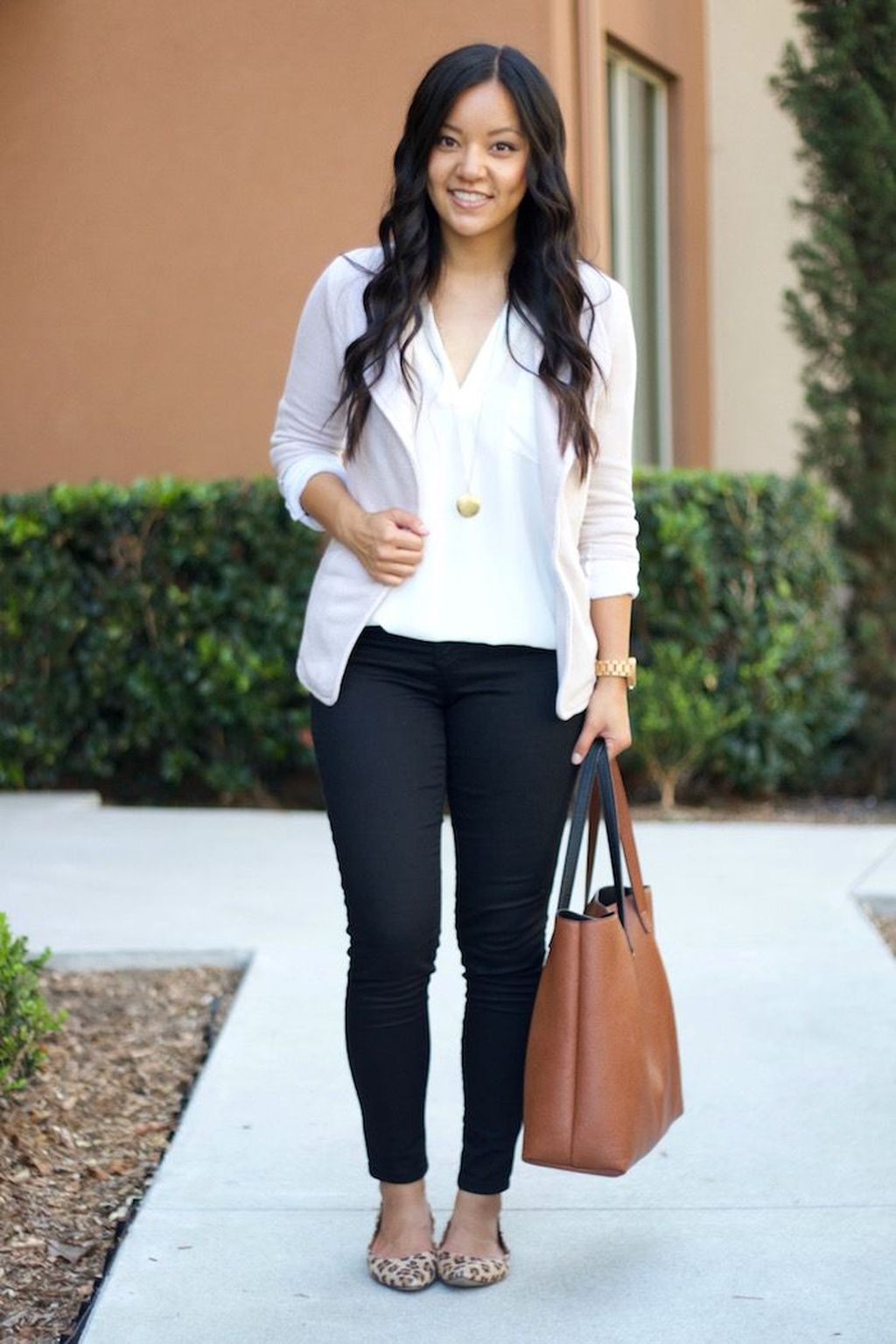 Black Casual white clothing combinations for women