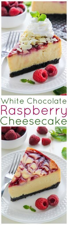 White Chocolate Raspberry Cheesecake - RECIPE FOR HEALTHY #whitechocolateraspberrycheesecake