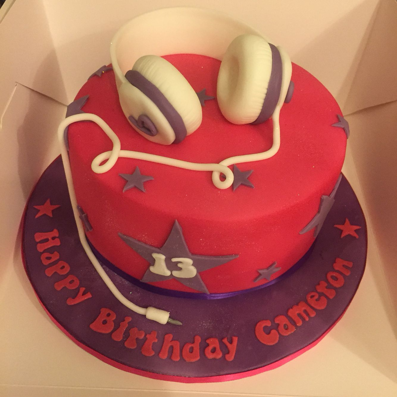 Girly beats birthday cake
