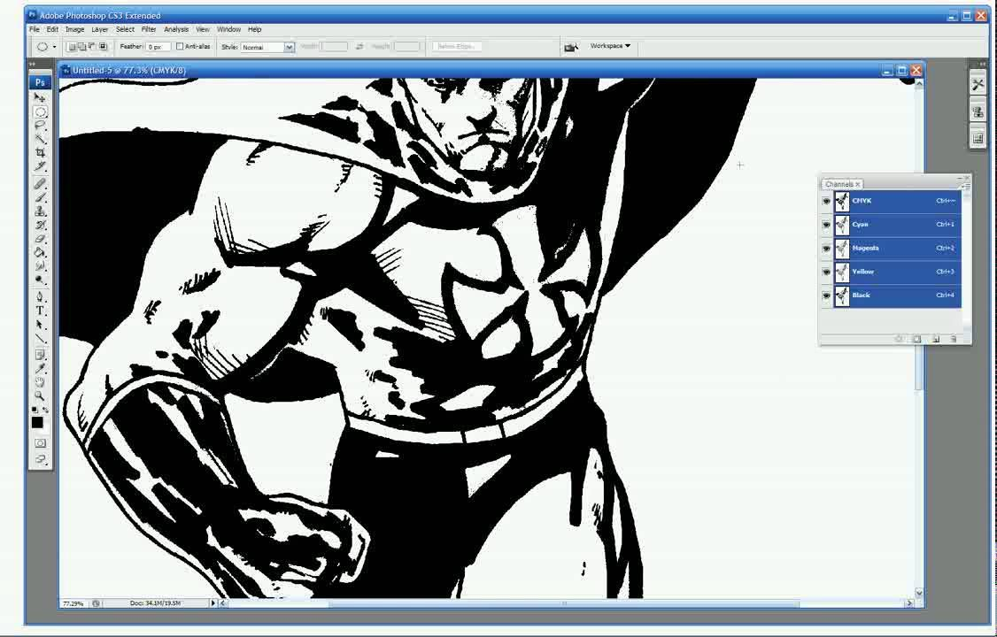 This is the technique i use to separate line art out in pshop i this is part one of a six part tutorial currently being posted on coloring comic books digitally through photoshop the way comic book professionals do baditri Gallery