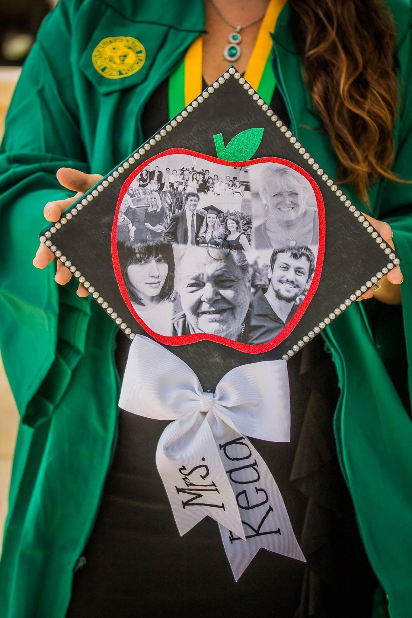 Decorating graduation cap ideas for teachers - Teacher Graduation Cap Thanking Everyone That Got Me Here