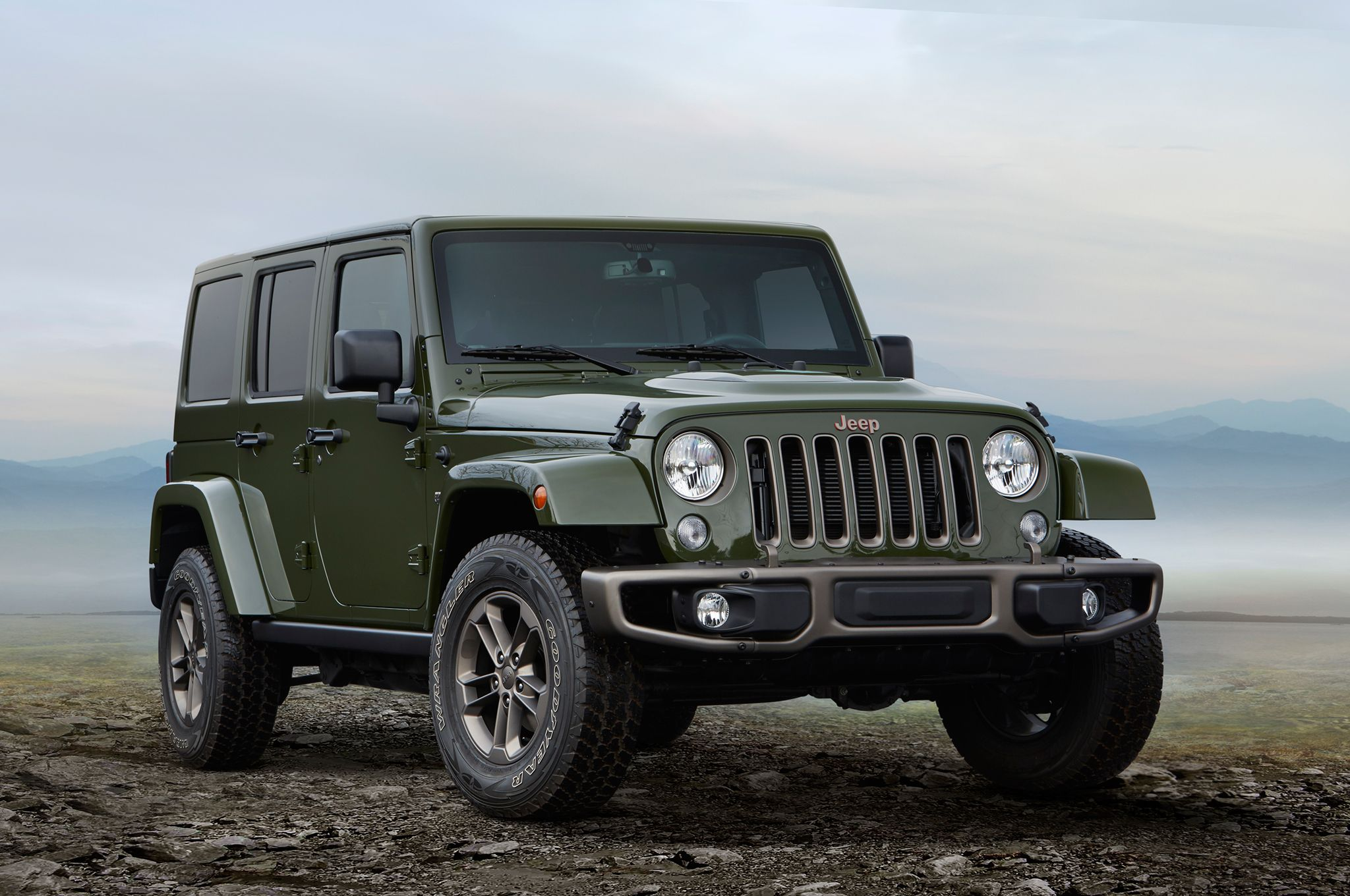 2016 Jeep Wrangler Unlimited 75th Anniversary Edition front three