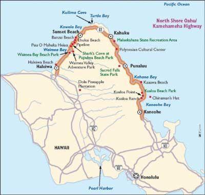 Hawaii Scenic Drive Kamehameha Highway Oahu Hawaii and Hawaiian