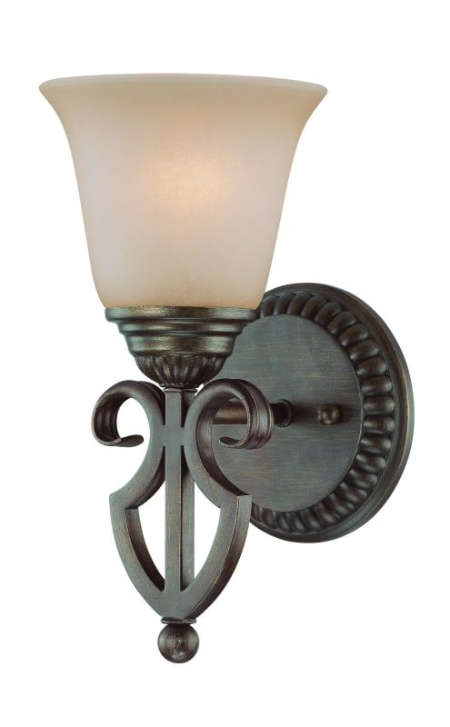 Craftmade 26001 Gatewick 1 Light Indoor Wall Sconce 6 Inches Wide Century Bronze Indoor Lighting Wall Sconces Indoor Wall Sconces Sconces Wall Sconces