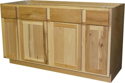 Quality One 60 X 34 1 2 Unfinished Hickory Sink Cooktop Kitchen Base Cabinet With 2 Active D Kitchen Base Cabinets Base Cabinets Unfinished Kitchen Cabinets