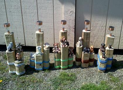 Landscape timber crafts me gusta pinterest faroles for Faroles solares para jardin