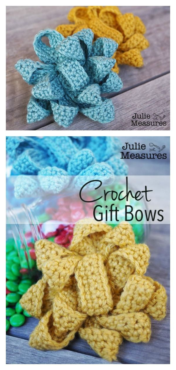Pull String Bow Free Crochet Pattern and Video Tutorial