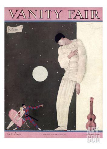 Vanity Fair Cover - April 1927 Regular Giclee Print by Georges Lepape at Art.com