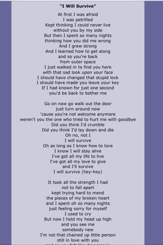 I will i will lyrics