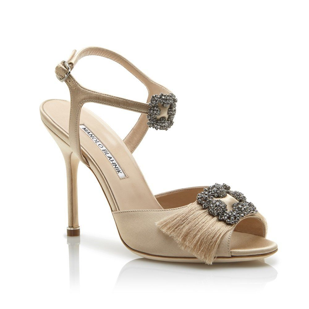 7075f2de5eac4 ... Satin Crystal Buckle Sandals; International delivery offered on all  products. Manolo Blahnik - CELSUS - https://www.manoloblahnik.com/us