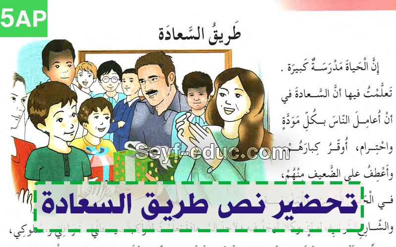 تحضير نص طريق السعادة للسنة الخامسة ابتدائي الجيل الثاني Http Www Seyf Educ Com 2019 07 Pre Txt Tarik Sa3ada 5ap Html Comics Txt Movie Posters