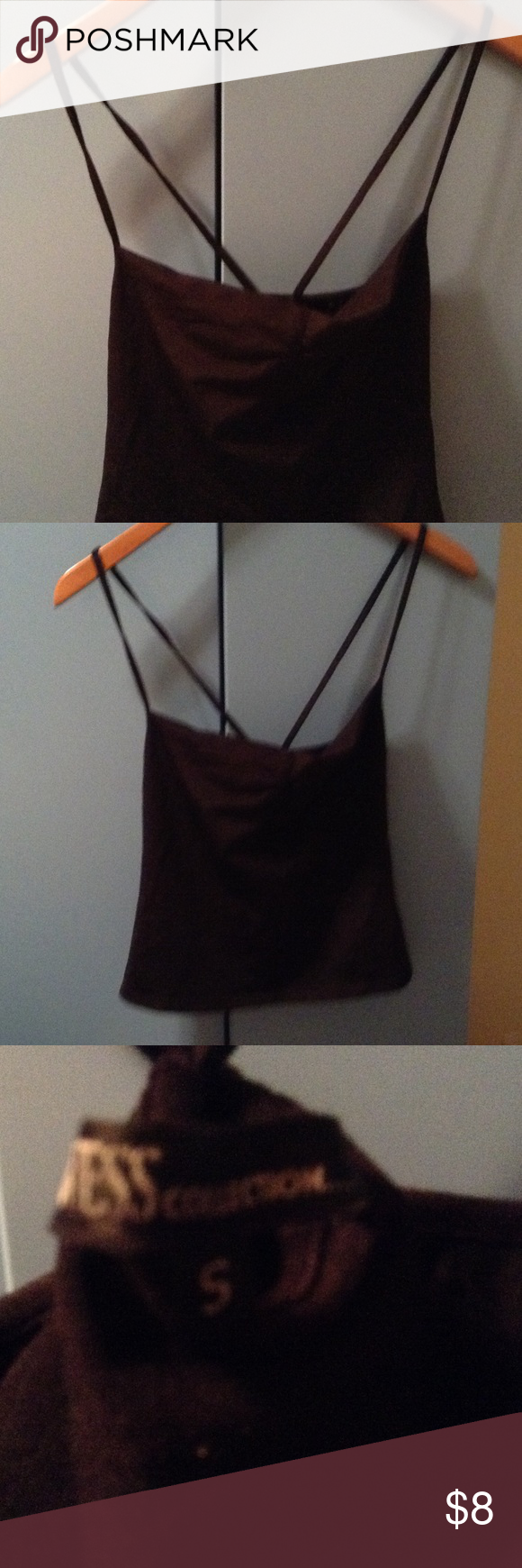 Guess Collection black top Crisis cross back Guess Collection Tops Camisoles