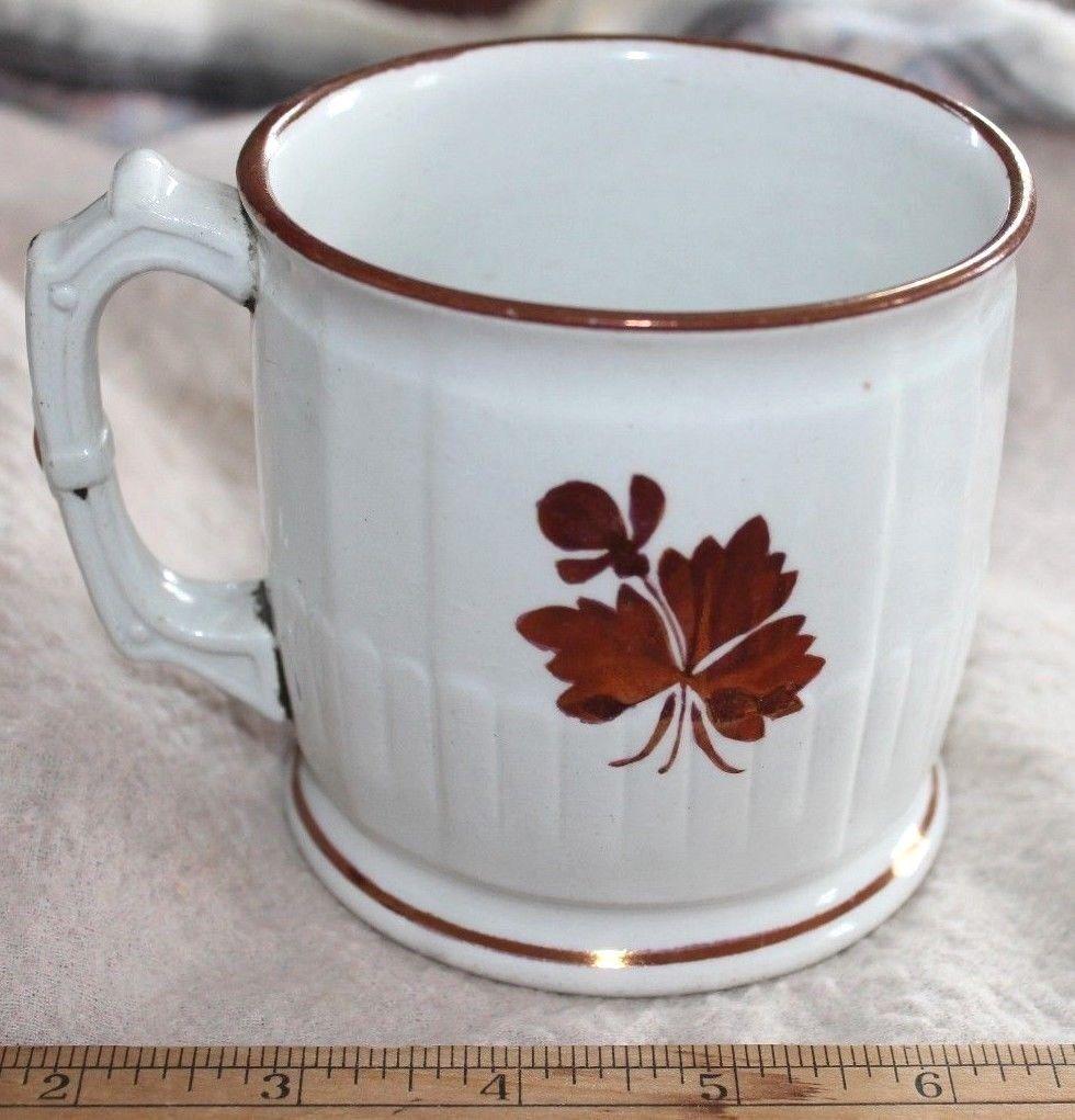 Rare Ironstone Tea Leaf Shaving Mug Ex Mellor Taylor England Large No Damage Ebay Mugs Tea Leaves Tea