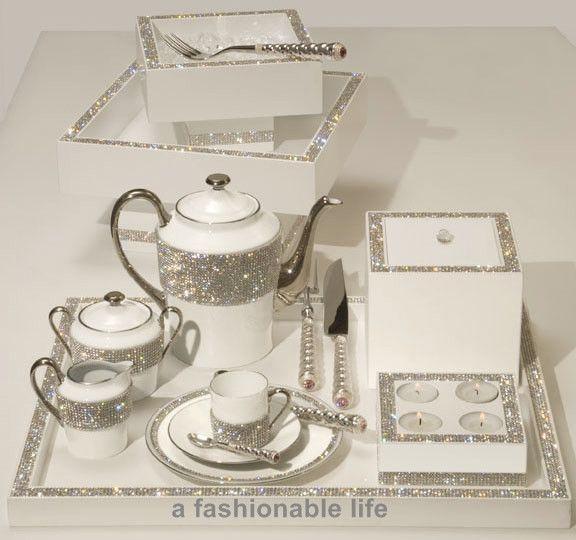 Swarovski Crystal Tea Sets | Sets Of 6 Of The Same Item Cutlery In Sets Of