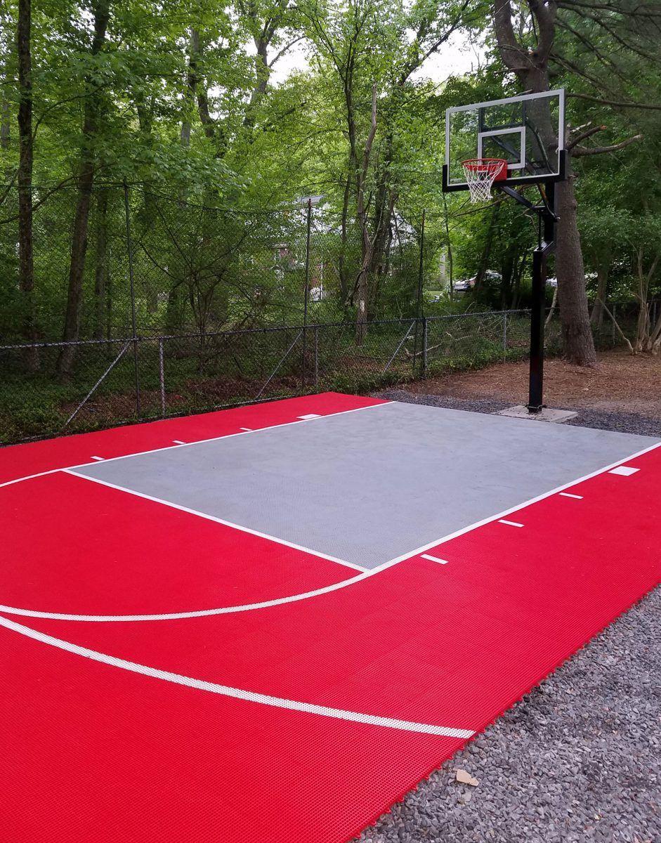 20' x 30' Basketball Court - DunkStar DIY Backyard Courts ...